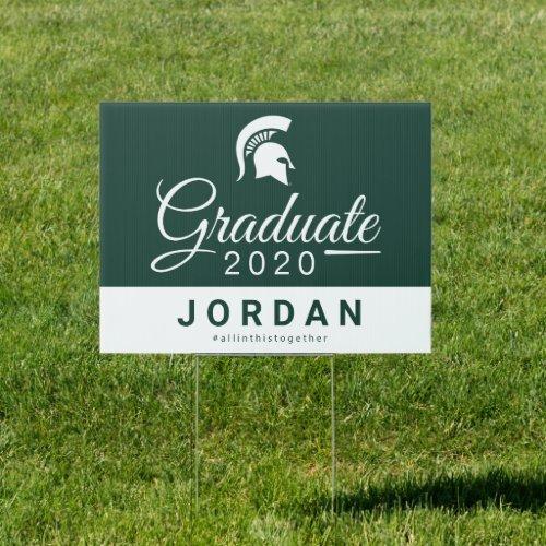 Michigan State Graduate Class of 2020 Sign