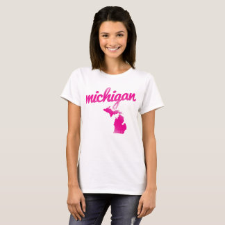 Michigan state in pink T-Shirt