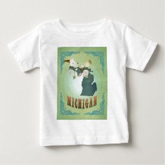 Michigan State Map – Green Baby T-Shirt