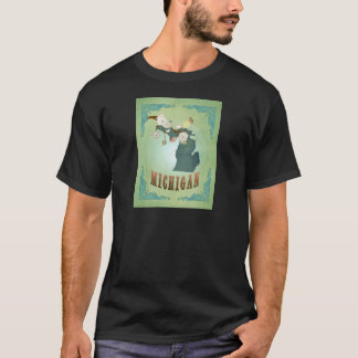 Michigan State Map – Green T-Shirt