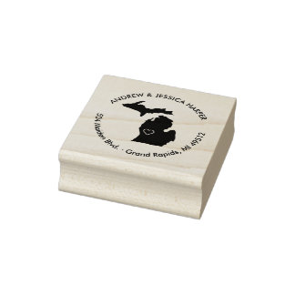 Michigan State Moving Announcement Address Stamp