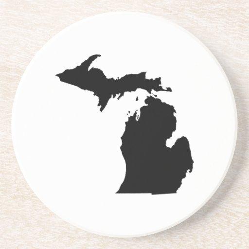 Michigan State Outline Coaster