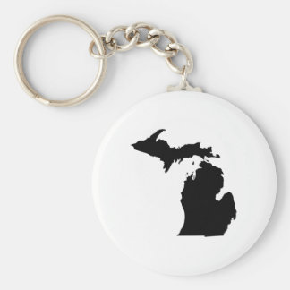 Michigan State Outline Keychain