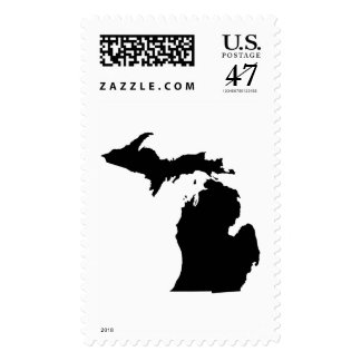 Michigan State Outline Postage
