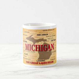 Michigan State Pride Map Silhouette Coffee Mug