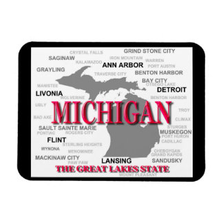 Michigan State Pride Map Silhouette Rectangular Photo Magnet