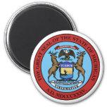 Michigan State Seal 2 Inch Round Magnet