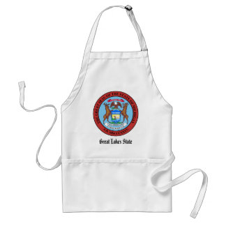 Michigan State Seal and Motto Adult Apron