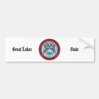 Michigan State Seal and Motto Bumper Sticker