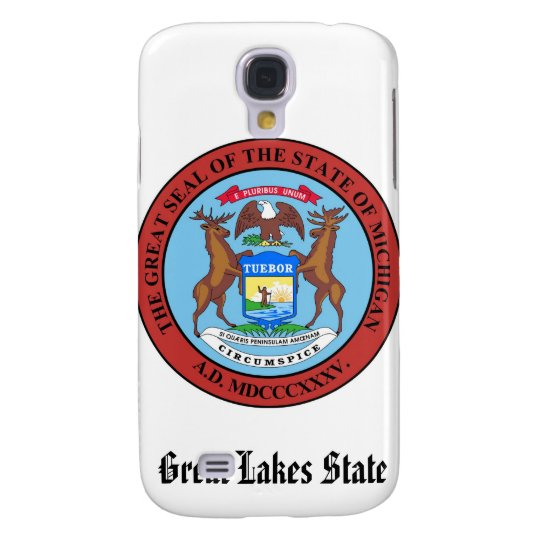 Michigan State Seal and Motto Galaxy S4 Cover