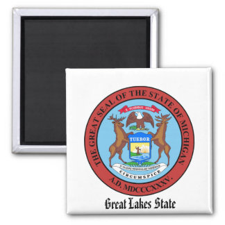 Michigan State Seal and Motto Magnet