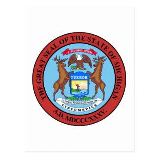Michigan State Seal and Motto Postcard