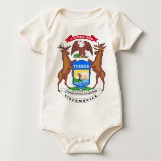 Michigan State Seal Baby Bodysuit