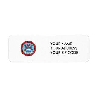 Michigan State Seal Return Address Label