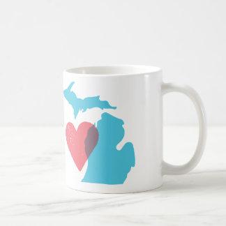 Michigan State Shape Love Mug