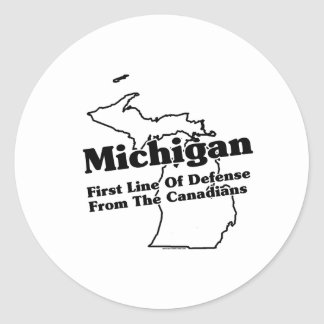 Michigan State Slogan Classic Round Sticker