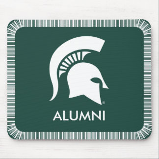Michigan State Spartan Helmet Logo Mouse Pad
