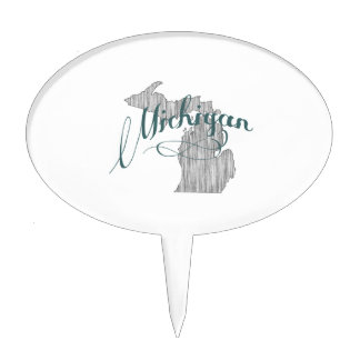 Michigan State Typography Cake Topper