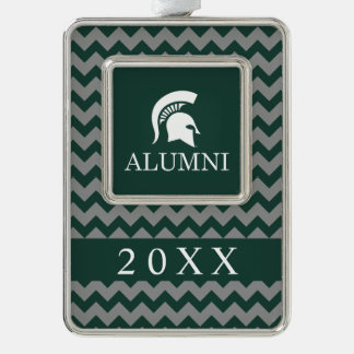 Michigan State University Alumni Silver Plated Framed Ornament