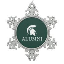 Michigan State University Alumni Snowflake Pewter Christmas Ornament