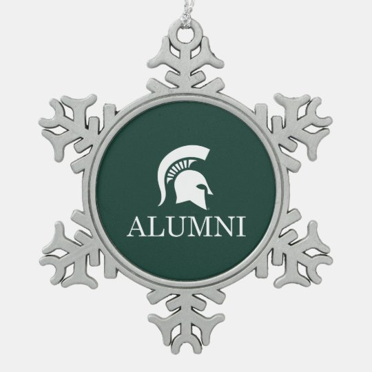Michigan State University Alumni Snowflake Pewter Christmas Ornament | Zazzle.com