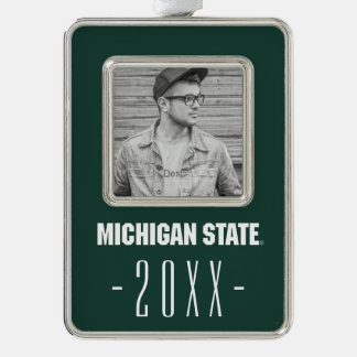 Michigan State University Graduation Silver Plated Framed Ornament