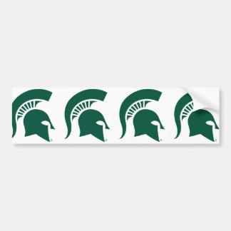 Michigan State University Spartan Helmet Logo Bumper Sticker