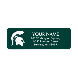 Michigan State University Spartan Helmet Logo Label