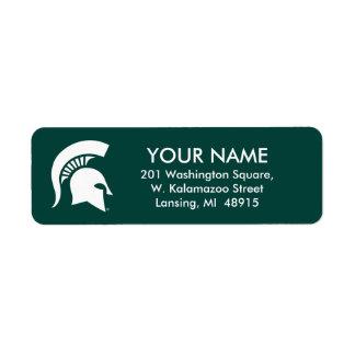Michigan State University Spartan Helmet Logo Label