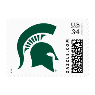 Michigan State University Spartan Helmet Logo Postage