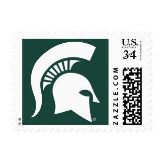 Michigan State University Spartan Helmet Logo Postage