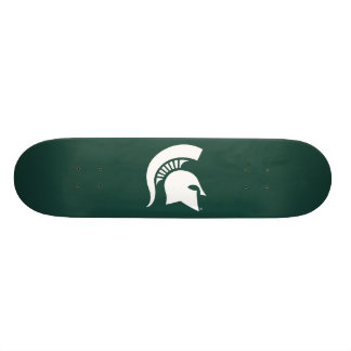 Michigan State University Spartan Helmet Logo Skateboard