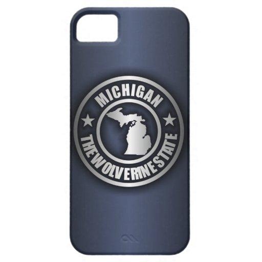 """Michigan Steel"" iPhone 5 Cases (Blue)"