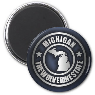 """Michigan Steel"" Magnets (Blue)"