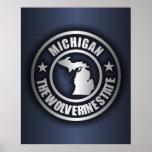 """Michigan Steel"" Posters & Prints (Blue)"