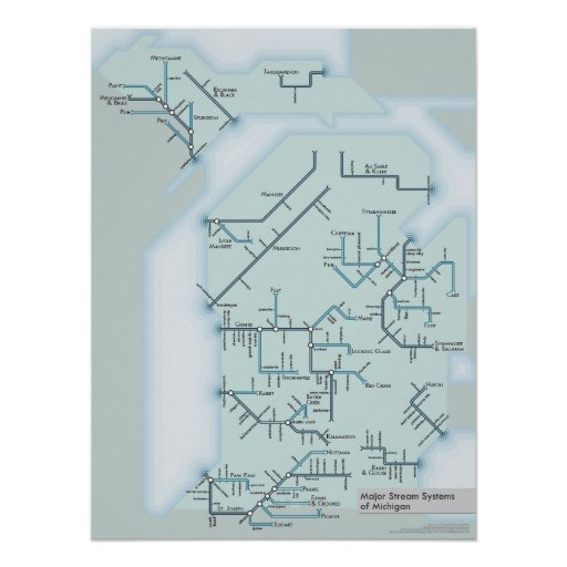 """Michigan Stream Systems 18"""" x 24"""" Posters"""