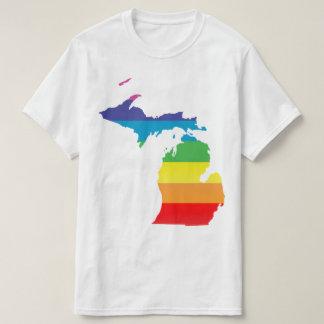michigan striped pride T-Shirt