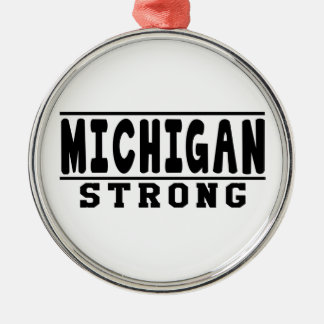 Michigan Strong Designs Christmas Tree Ornaments