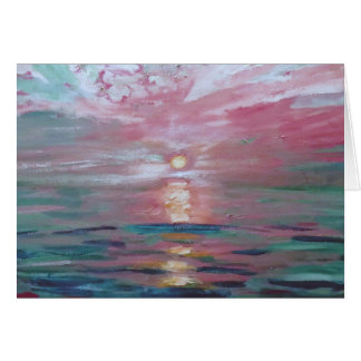 Michigan Sunset Blank Card