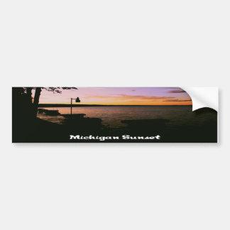 Michigan Sunset Bumper Sticker
