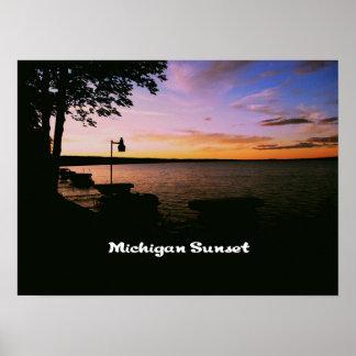Michigan Sunset Print