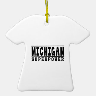 Michigan Superpower Designs Christmas Ornament