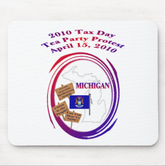 Michigan Tax Day Tea Party Protest Mouse Pad