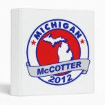 Michigan Thad McCotter Binders