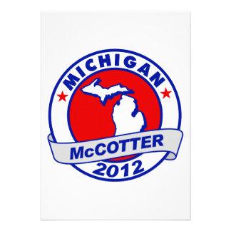 Michigan Thad McCotter Custom Invitations