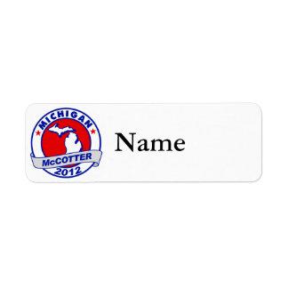 Michigan Thad McCotter Label