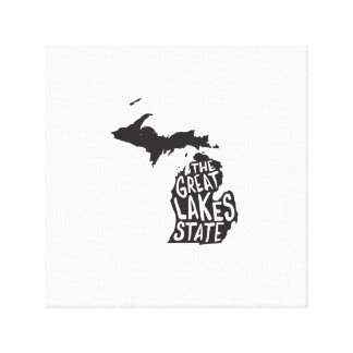 Michigan: The Great Lakes State Canvas Print