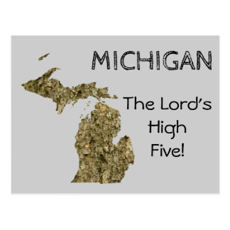 Michigan - The Lord's High Five Postcard