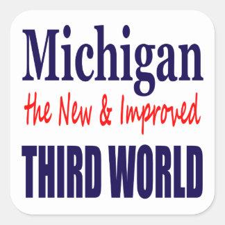 Michigan the New & Improved THIRD WORLD Square Sticker