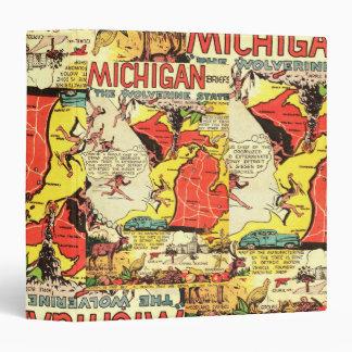 Michigan the Wolverine State Vinyl Binders